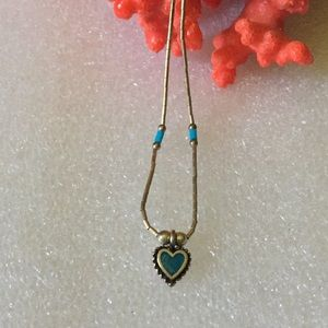 Antique sterling heart necklace